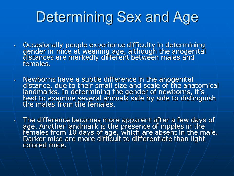 Determining Sex and Age