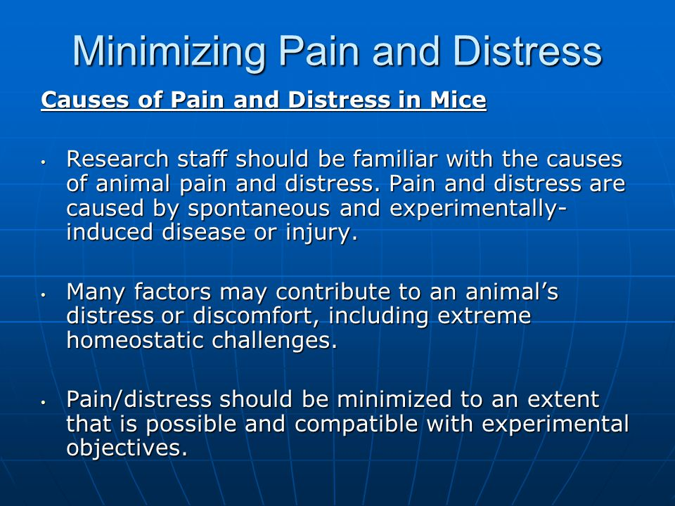 Minimizing Pain and Distress