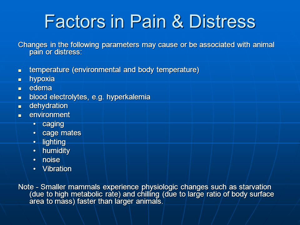 Factors in Pain & Distress