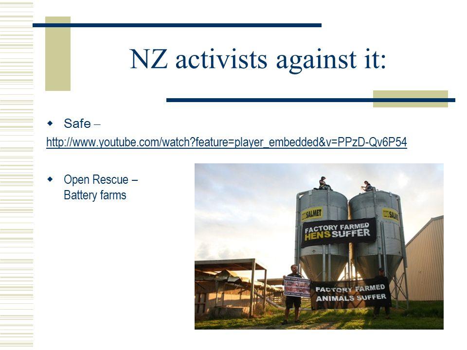 NZ activists against it: