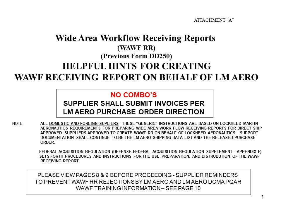 Wide Area Workflow Receiving Reports ppt download
