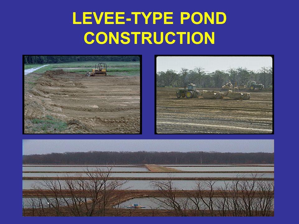 LEVEE-TYPE POND CONSTRUCTION