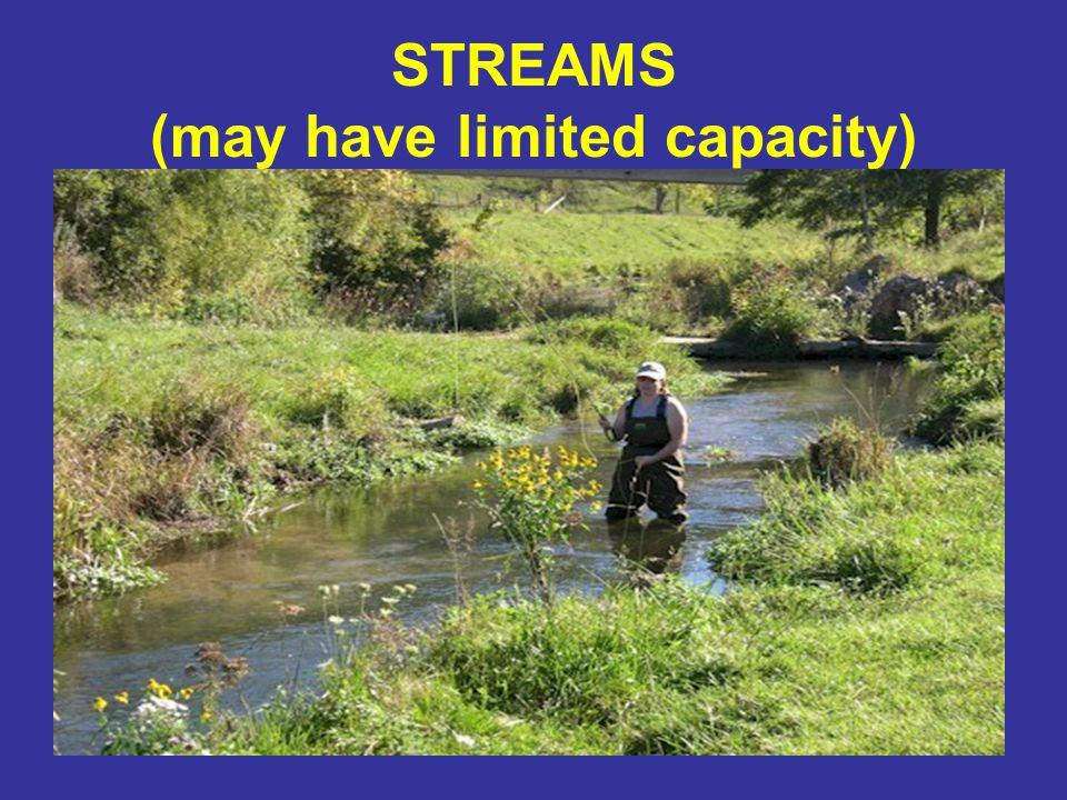 STREAMS (may have limited capacity)