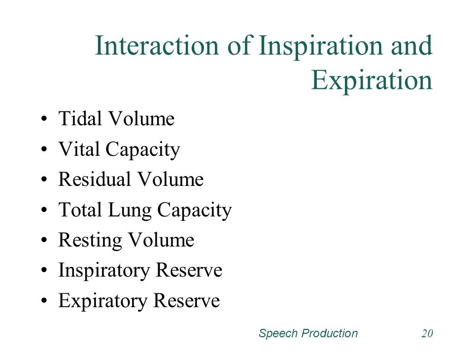 Interaction of Inspiration and Expiration