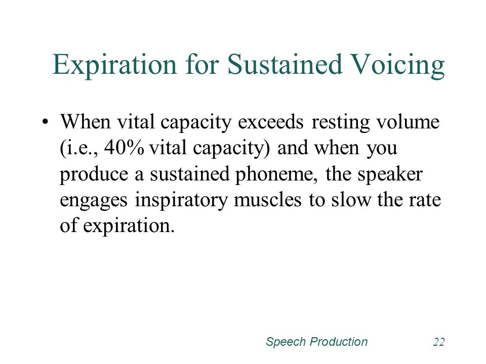 Expiration for Sustained Voicing