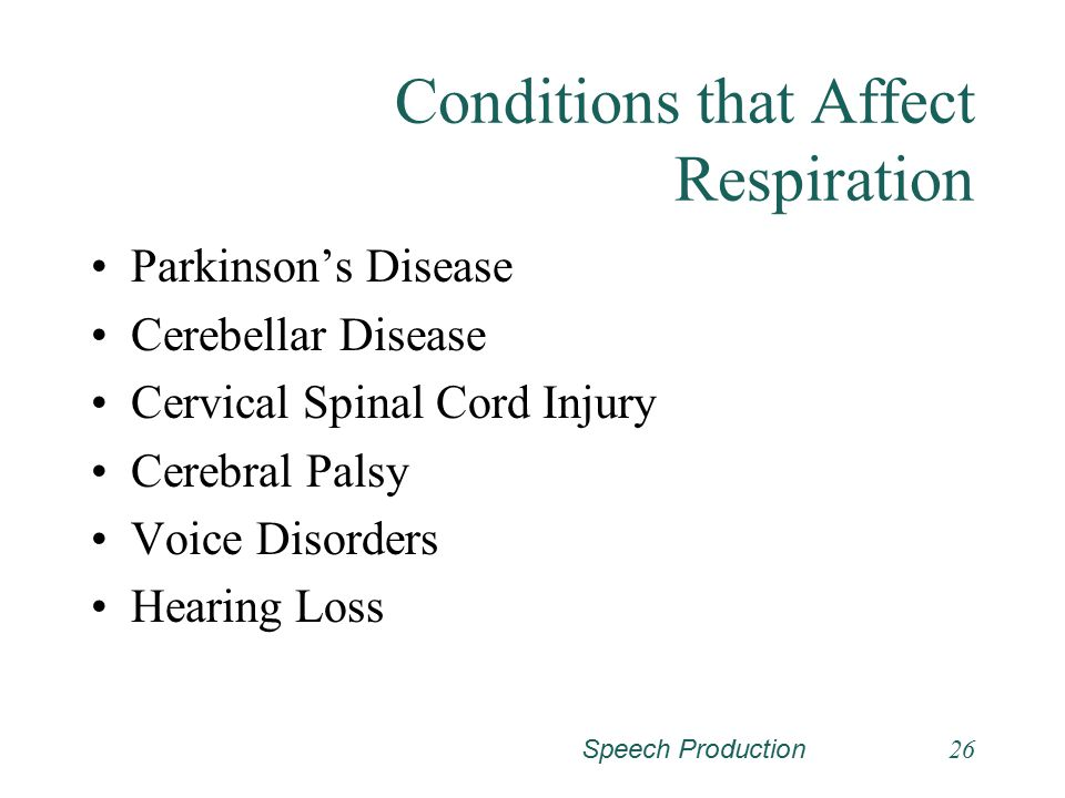 Conditions that Affect Respiration