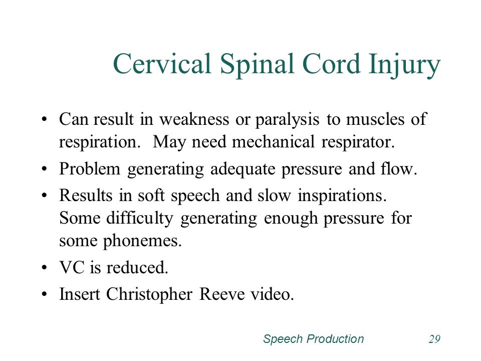 Cervical Spinal Cord Injury