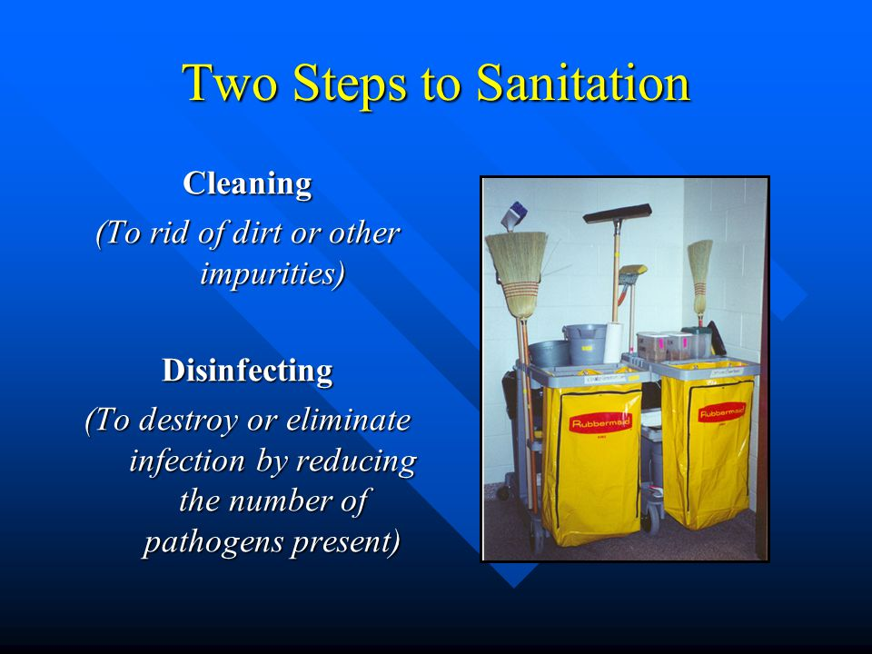 Two Steps to Sanitation