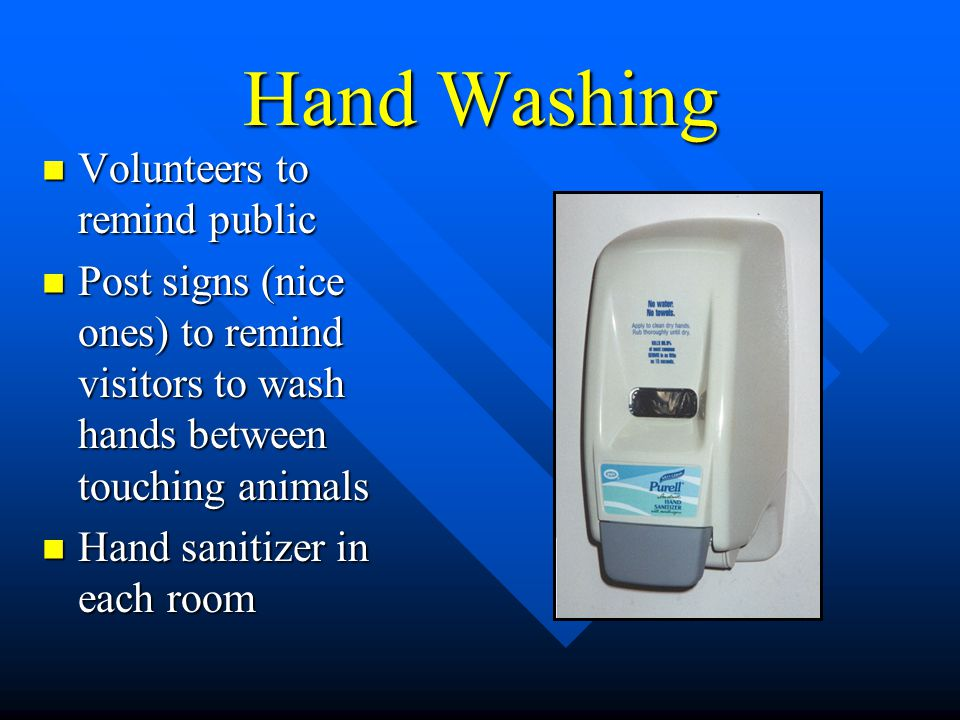Hand Washing Volunteers to remind public