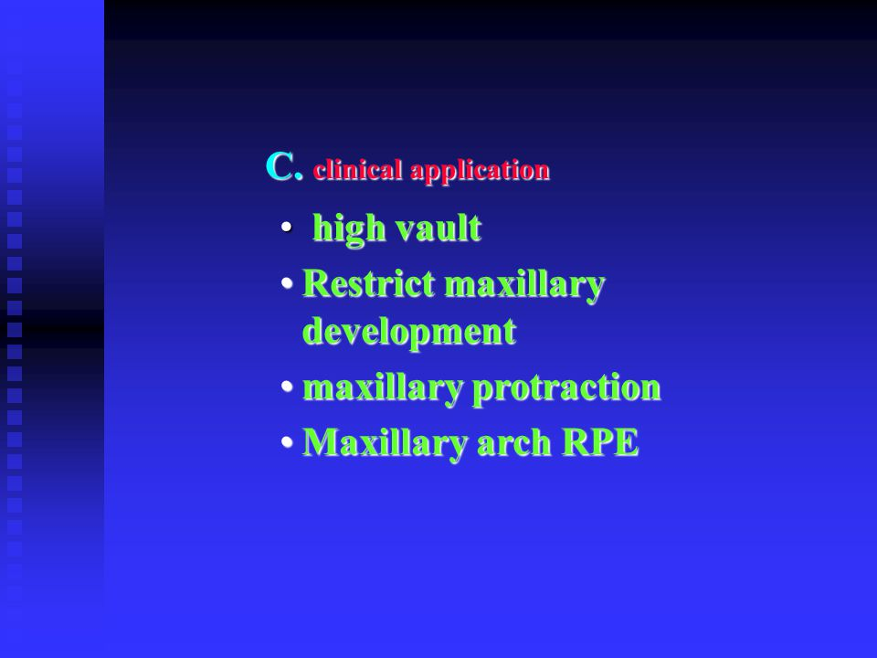 C. clinical application
