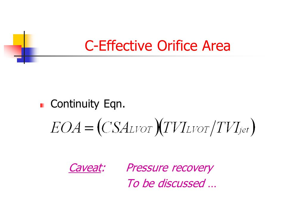C-Effective Orifice Area