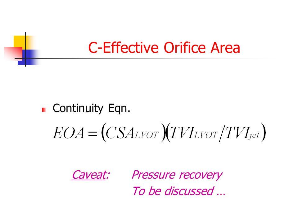 C-Effective Orifice Area