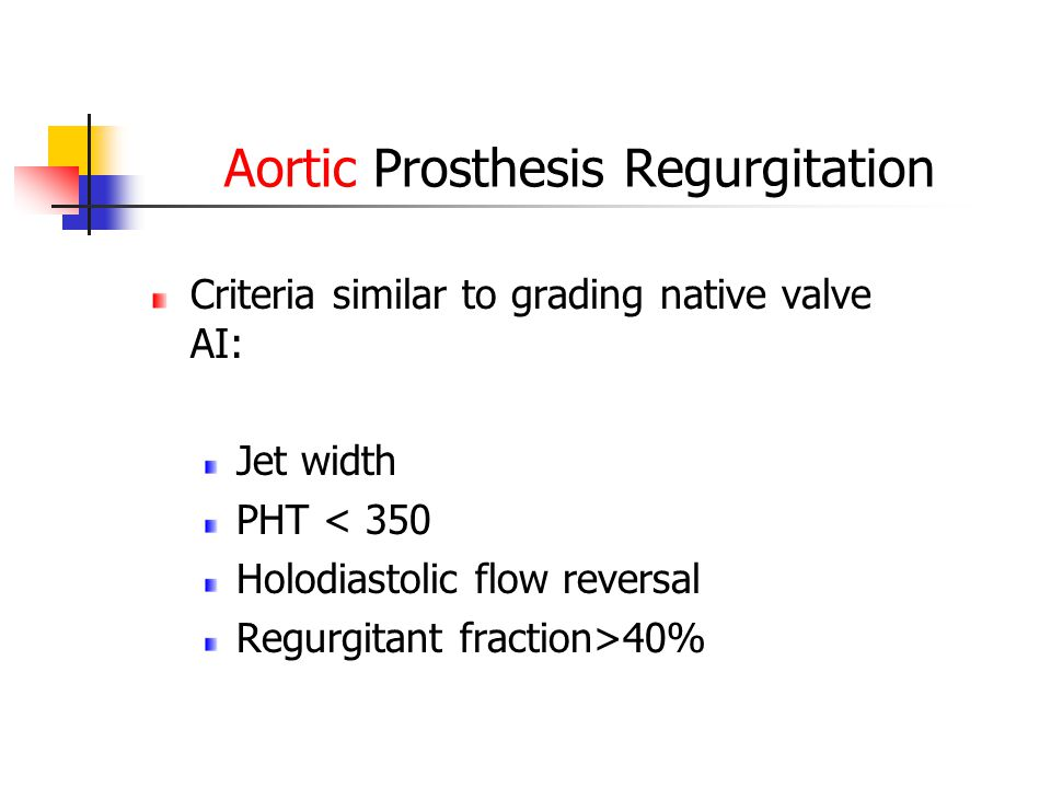 Aortic Prosthesis Regurgitation