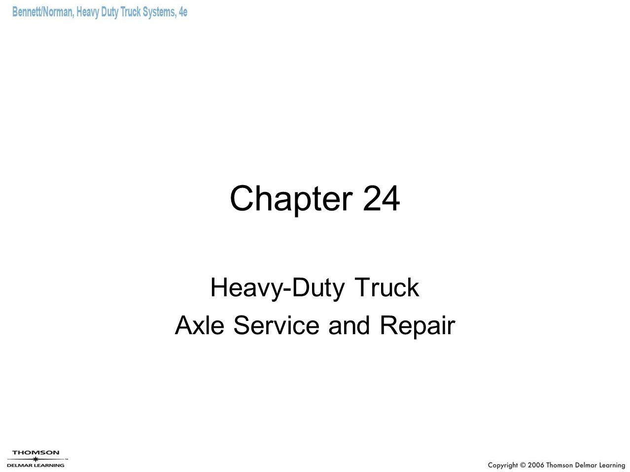 Heavy-Duty Truck Axle Service and Repair