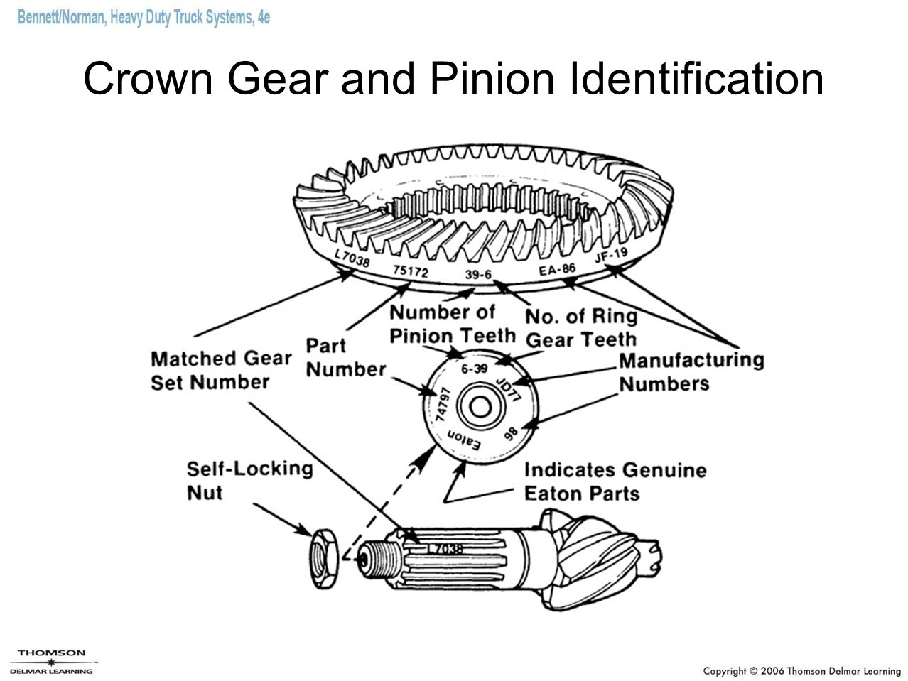 Crown Gear and Pinion Identification