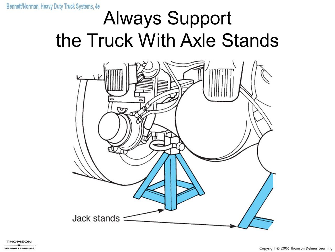 Always Support the Truck With Axle Stands