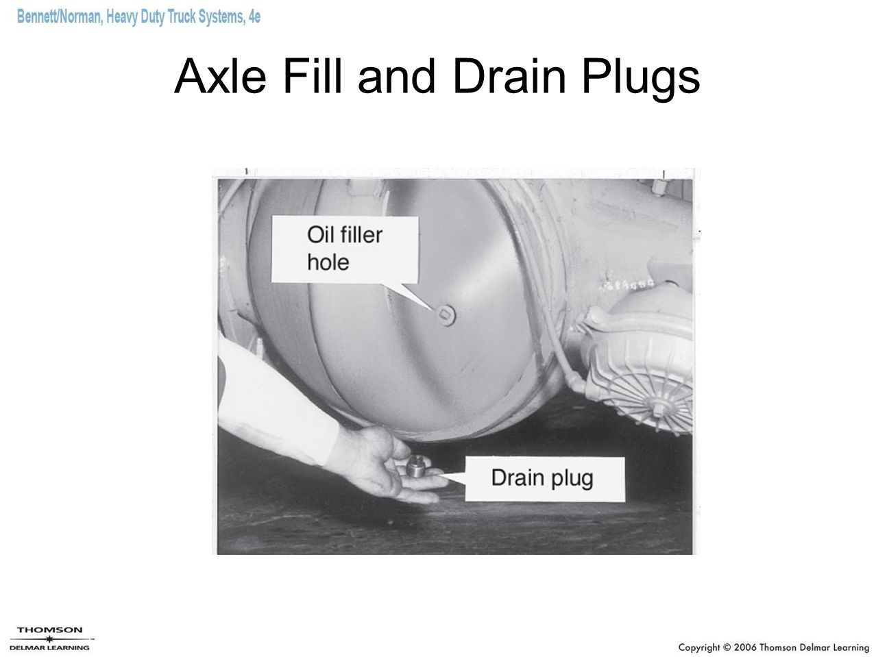 Axle Fill and Drain Plugs