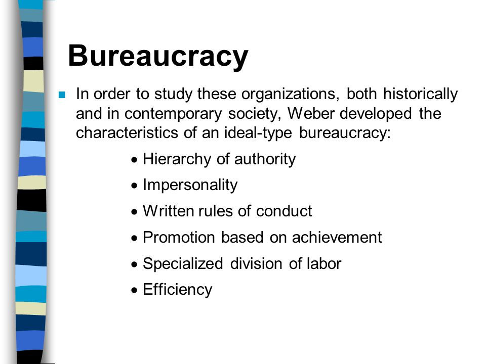 The sociology of max weber ppt video online download Characteristics of modern office