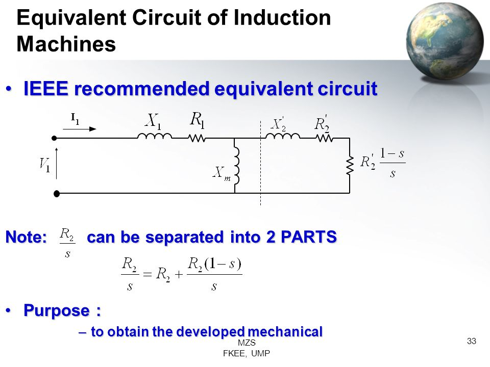 Equivalent Circuit of Induction Machines