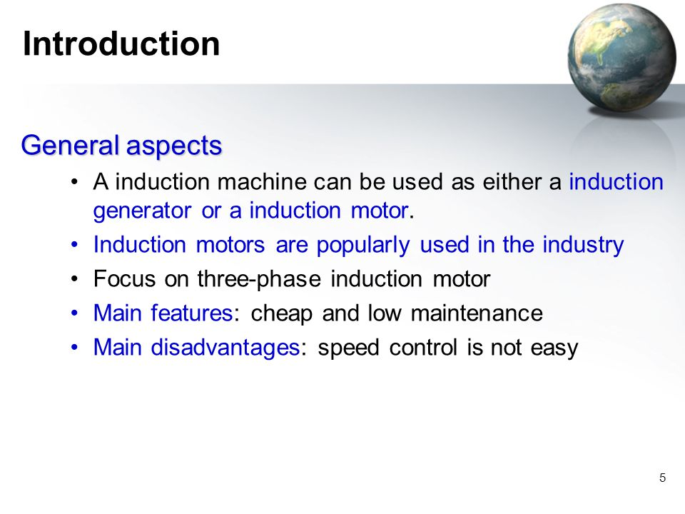 Introduction General aspects