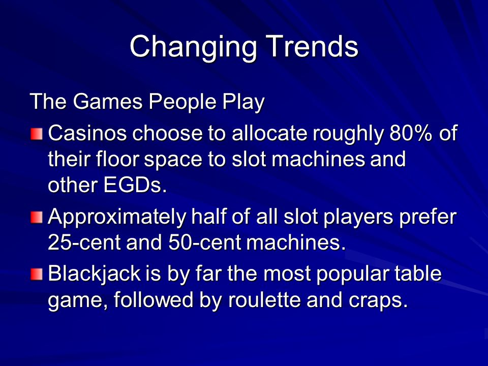 Changing Trends The Games People Play