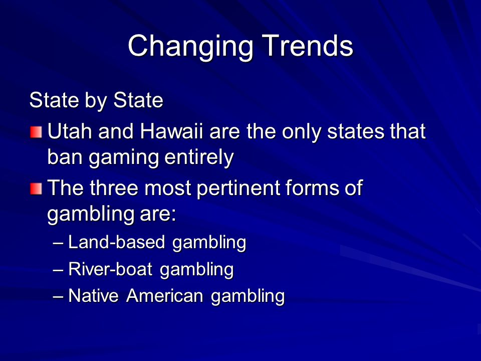 Changing Trends State by State