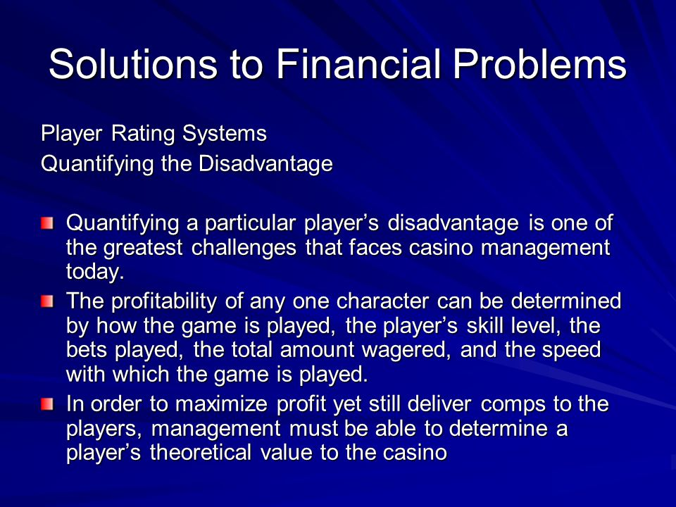 Solutions to Financial Problems