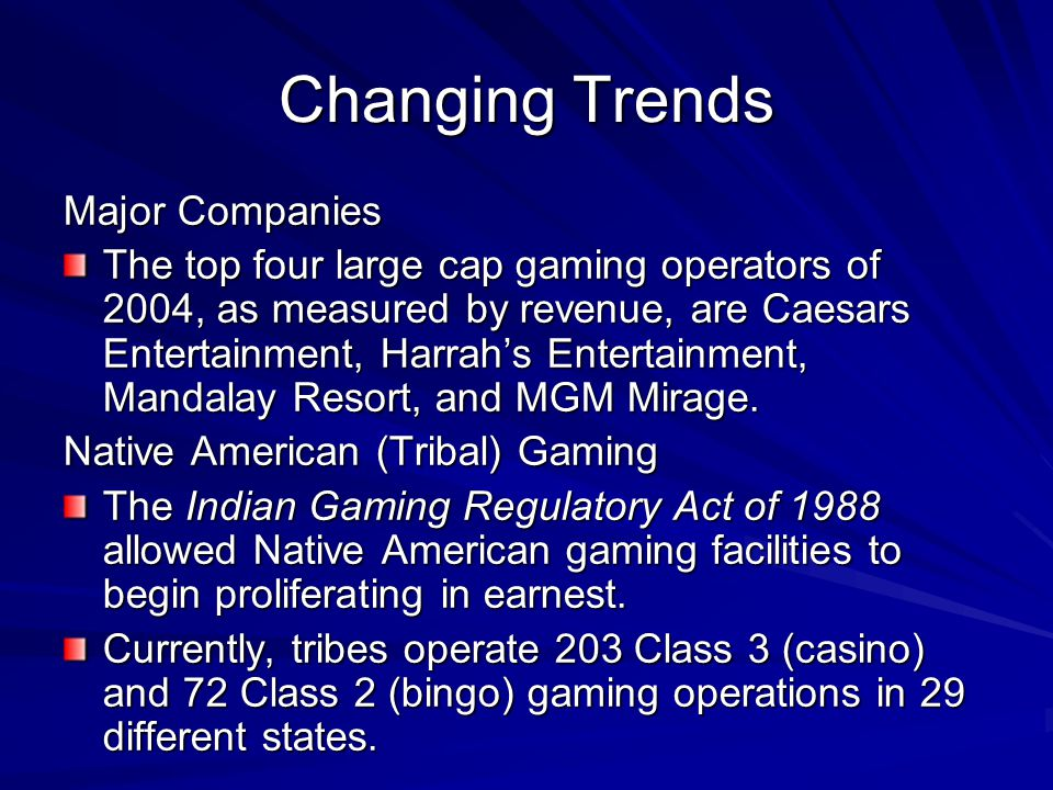 Changing Trends Major Companies