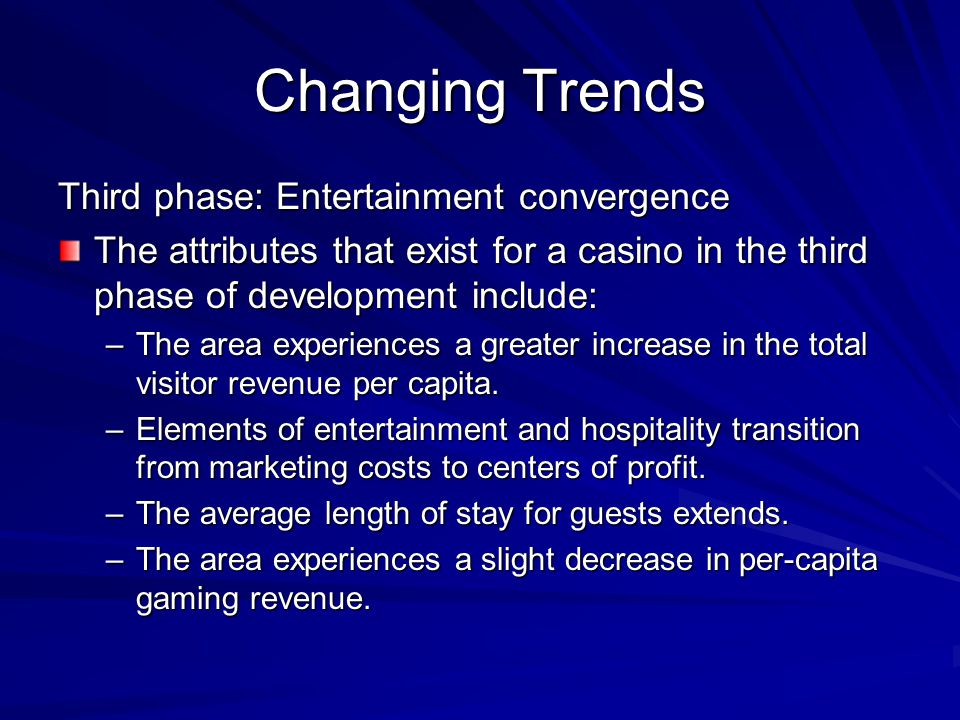 Changing Trends Third phase: Entertainment convergence