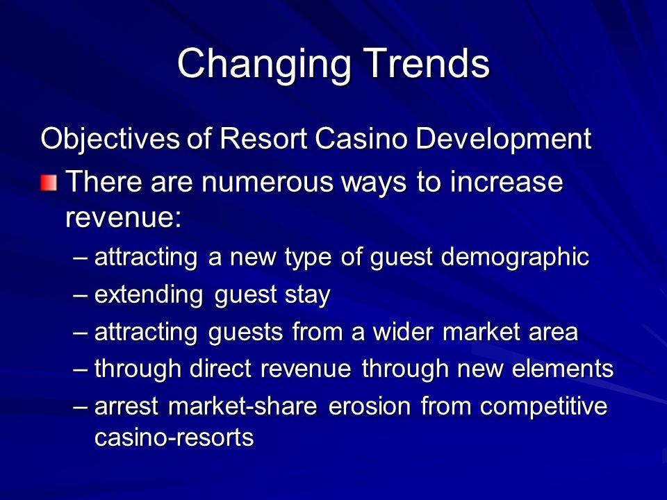 Changing Trends Objectives of Resort Casino Development