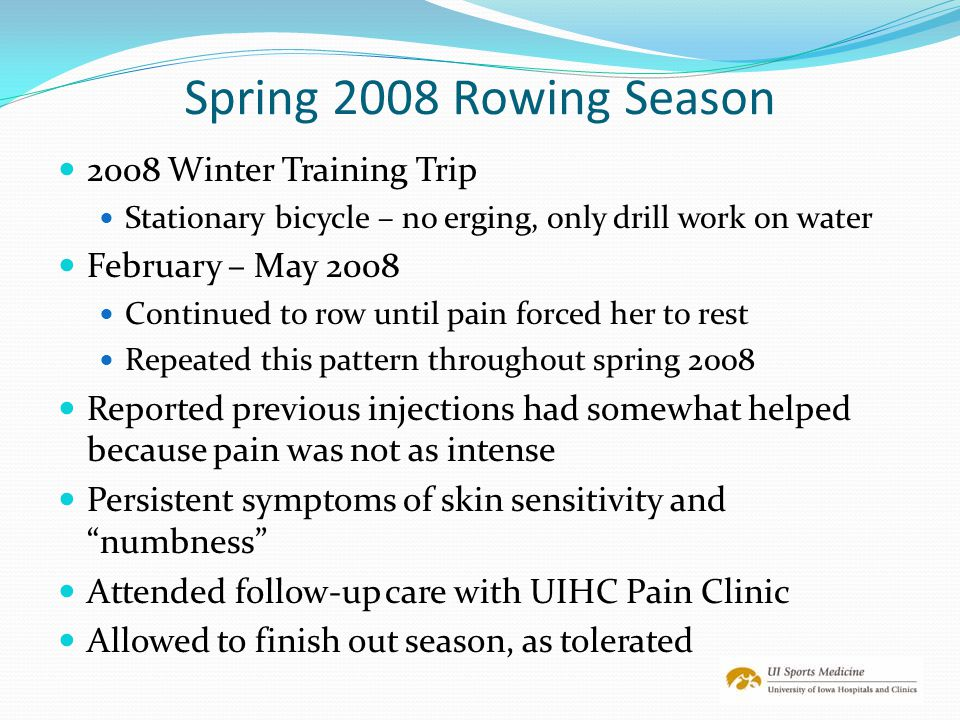 Spring 2008 Rowing Season 2008 Winter Training Trip