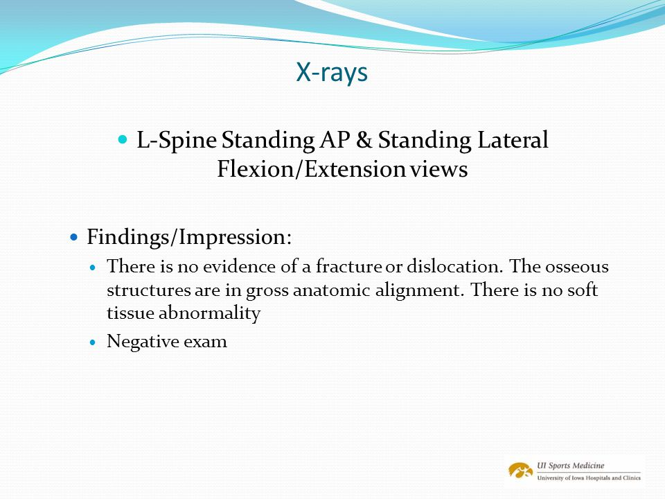 L-Spine Standing AP & Standing Lateral Flexion/Extension views