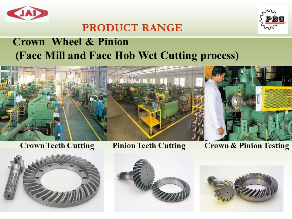 (Face Mill and Face Hob Wet Cutting process)