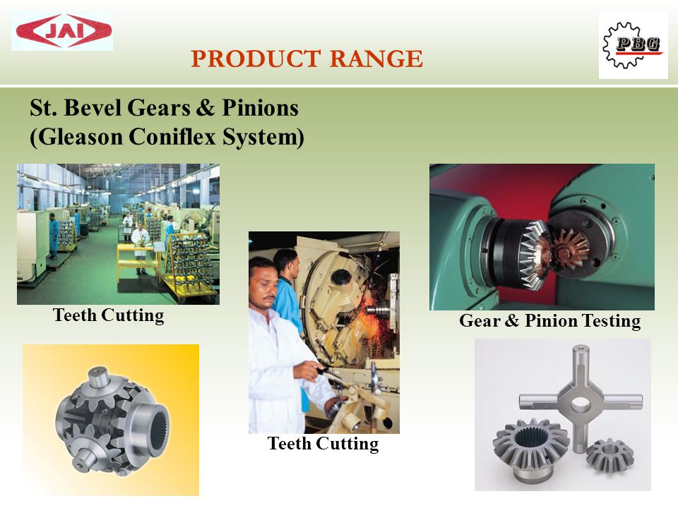 PRODUCT RANGE St. Bevel Gears & Pinions (Gleason Coniflex System)