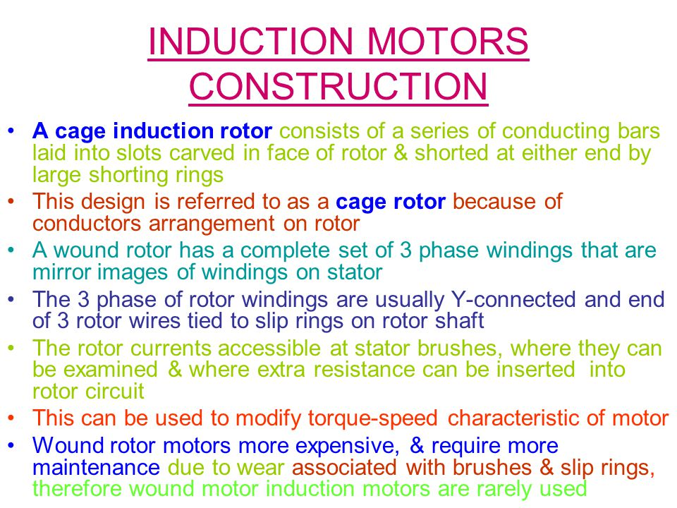INDUCTION MOTORS CONSTRUCTION