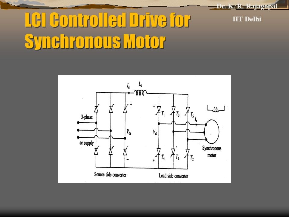 LCI Controlled Drive for Synchronous Motor