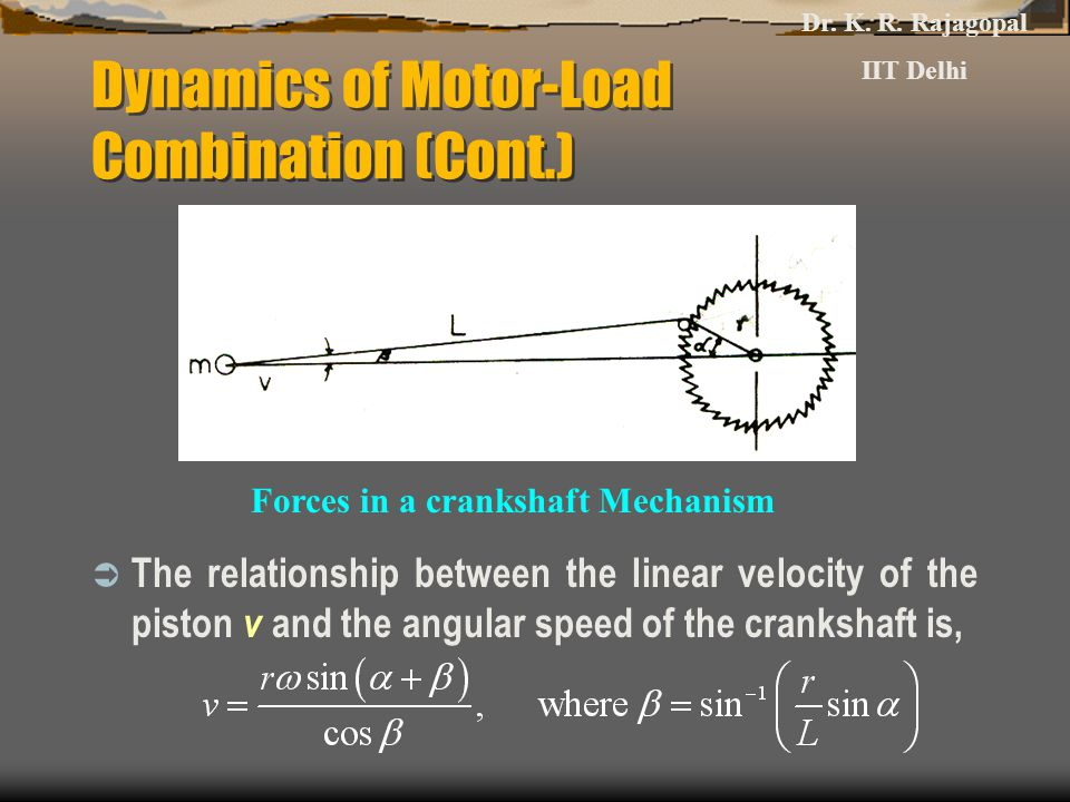 Dynamics of Motor-Load Combination (Cont.)