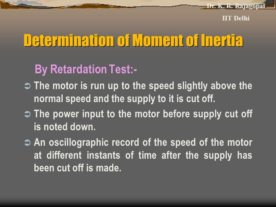 Determination of Moment of Inertia