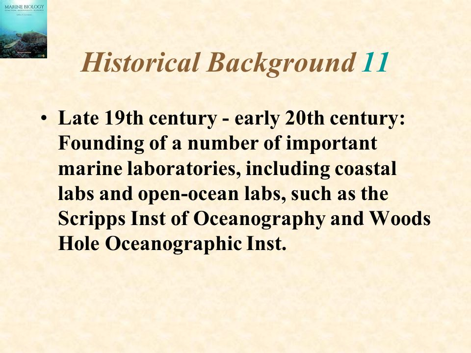Historical Background 11