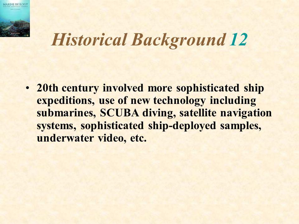 Historical Background 12