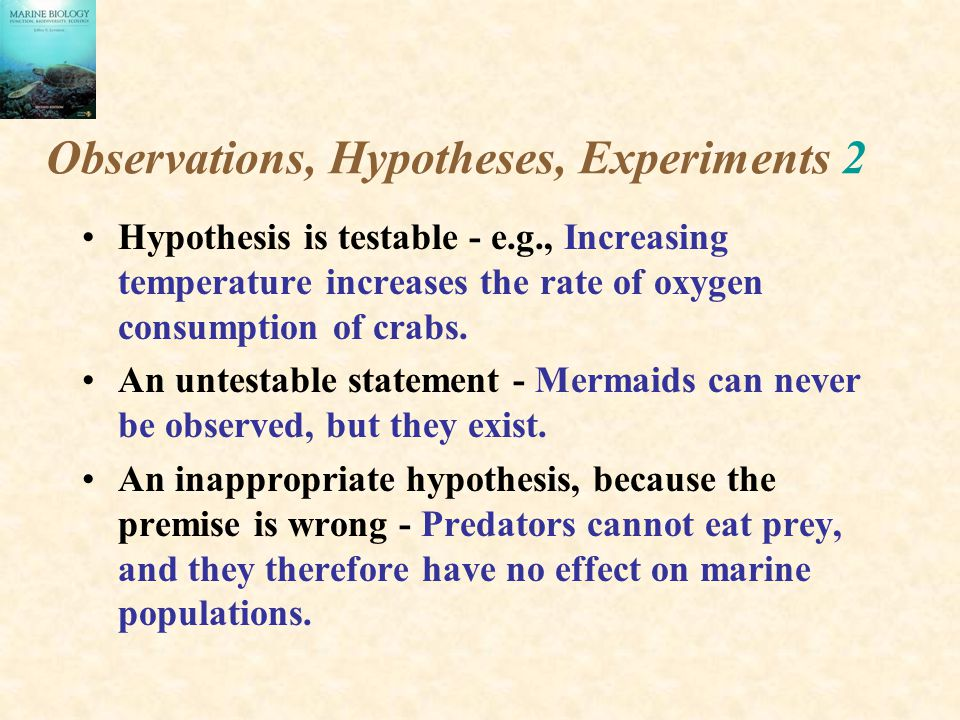 Observations, Hypotheses, Experiments 2