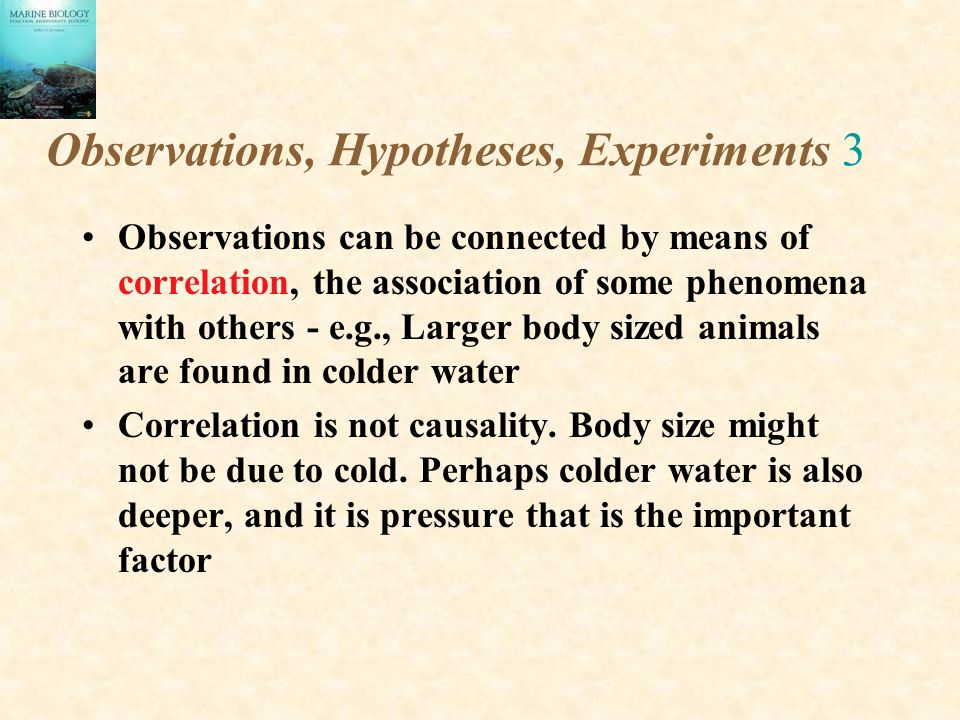 Observations, Hypotheses, Experiments 3