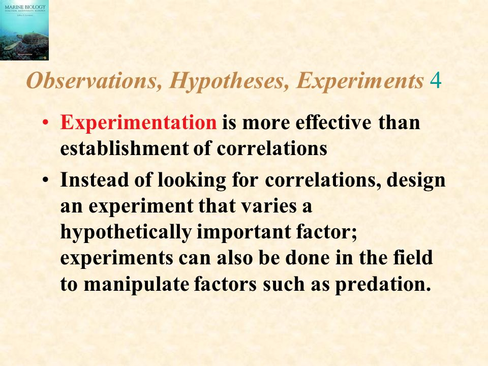 Observations, Hypotheses, Experiments 4
