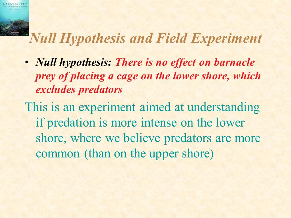 Null Hypothesis and Field Experiment