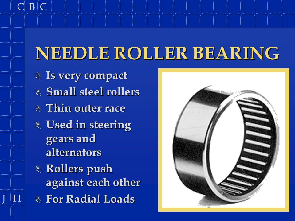 NEEDLE ROLLER BEARING Is very compact Small steel rollers