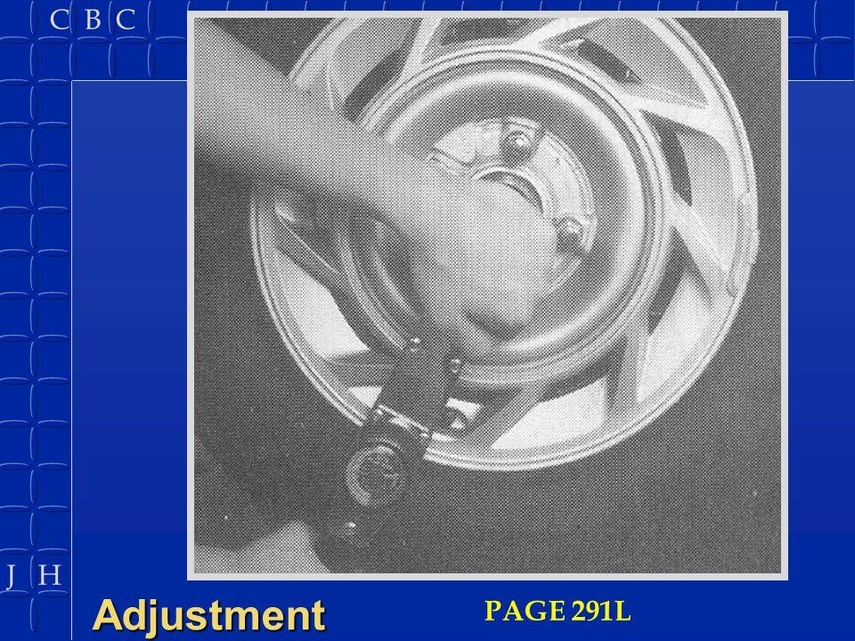 Adjustment PAGE 291L