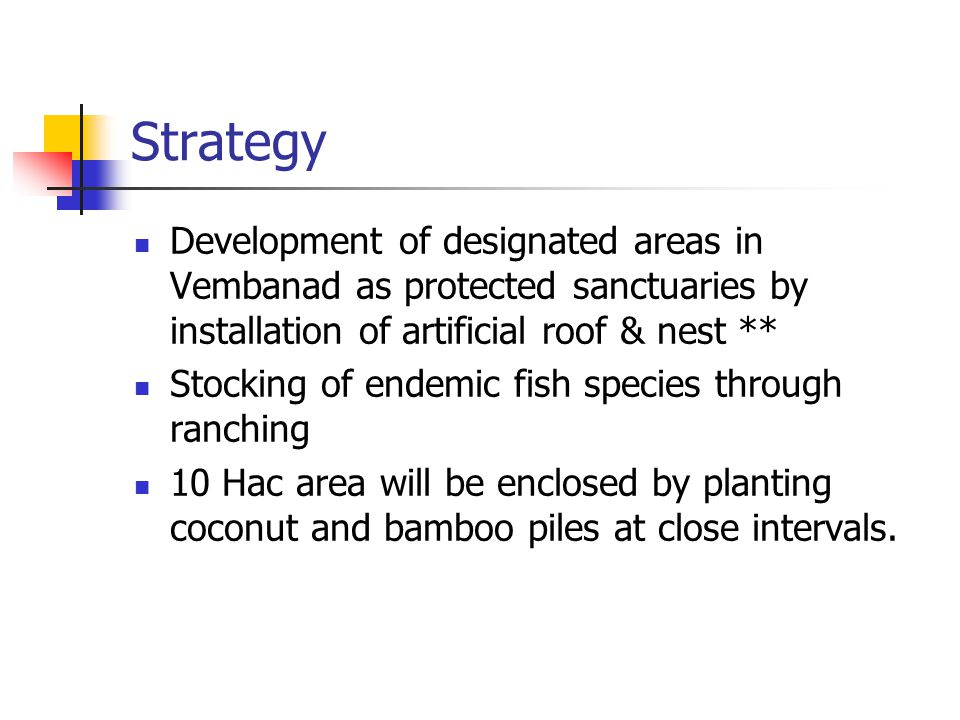 Strategy Development of designated areas in Vembanad as protected sanctuaries by installation of artificial roof & nest **