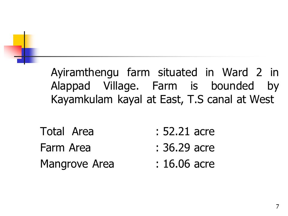 Ayiramthengu farm situated in Ward 2 in Alappad Village