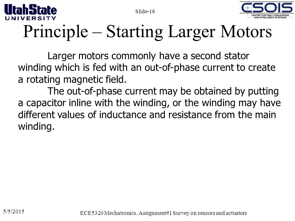 Principle – Starting Larger Motors