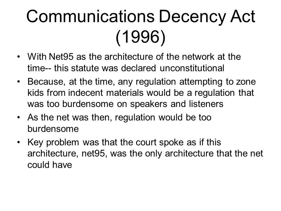 Communications Decency Act (1996)